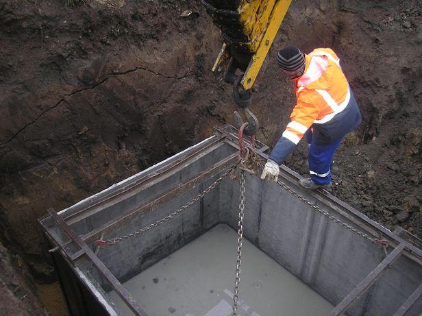 Zbiornik betonowy na szambo.Zbiorniki na deszczówkę,Szamba betonowe.
