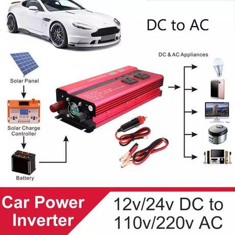 Inversor de energia solar caravana carro 12v 220v 4000w