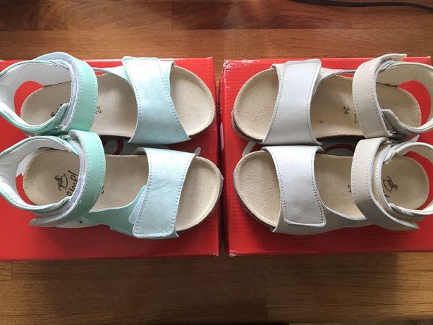 2x nowe sandały emel, sandałki fusbet r 24
