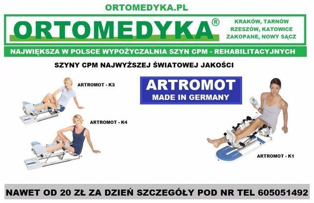 ARTROMOT - Wypożyczalnia szyn CPM - Kraków - Ortomedyka.pl