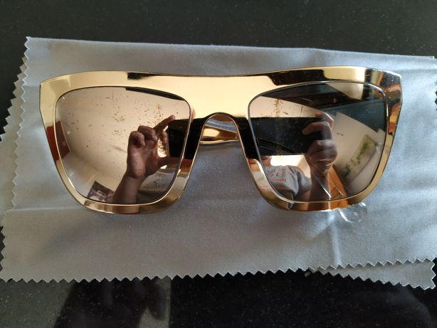 Óculos de Sol Dolce & Gabbana Gold