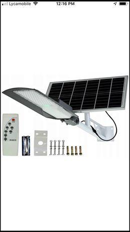 Lampa solarna 300W Latarnis uliczna panel pilot