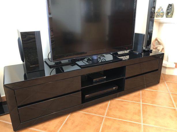 Móvel TV lacado preto