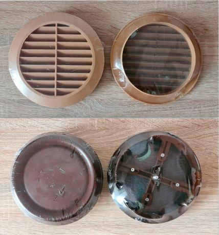 14 szt. kratka wentylacyjna nawiewna z siatką okrągła + kwadratowa