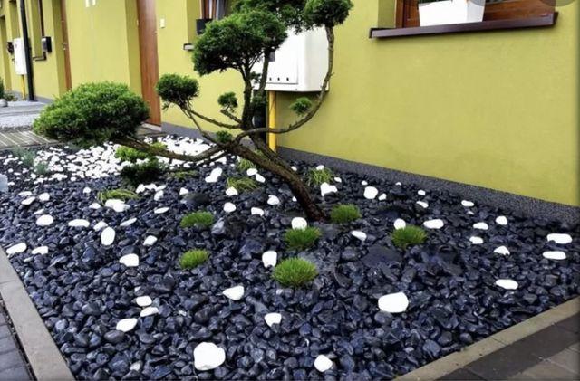 Otoczak czarny nero ebano (kamień drkoracyjny czarny grafitowy)