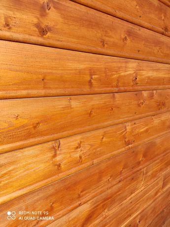 PROMOCJA Deska elewacyjna drewniana, szalówka, półbal z warkoczem