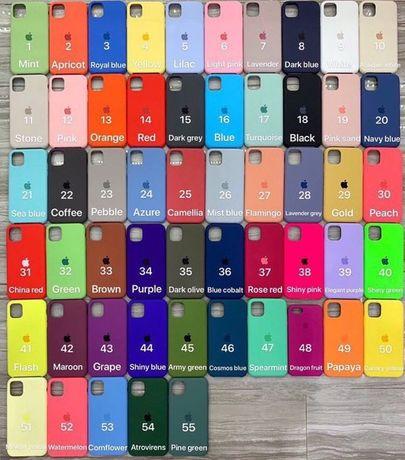 Silicon case на iPhone 6/6S/7/7+/8/8+/X/Xs/XR/XSmax/11/Pro/11max айфон