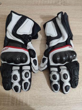 Sportowe rękawice motocyklowe 4SR model: SR 001 rozmiar L mało używane