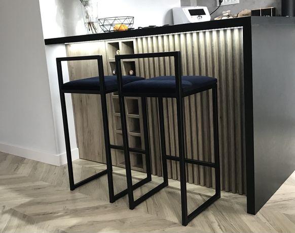 Metalowe krzesło/hoker w stylu industrialnym loft