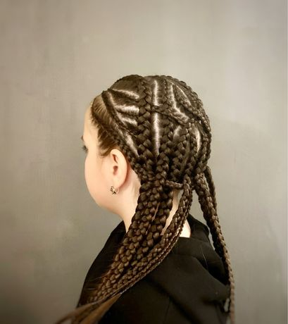 Косички. Брейды. Плетений кос на разную длину волос