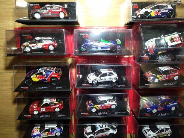 Rally Sébastien Loeb 1/43 (16 miniaturas)