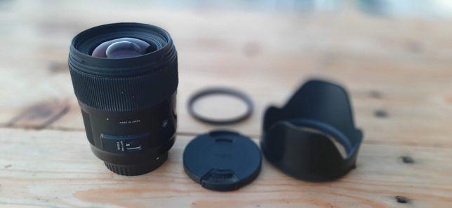Sigma A 35 mm f/1.4 DG HSM / Canon + filtr UV
