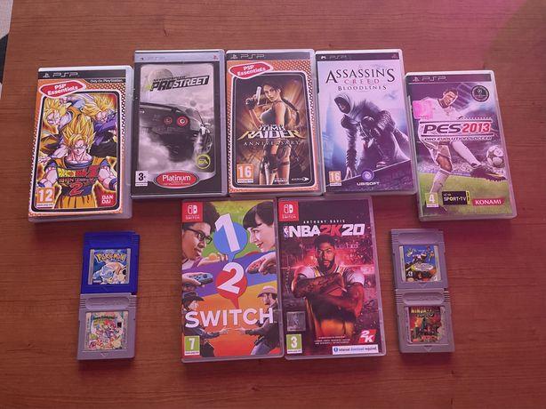 Vendo Jogos PSP, GameBoy e Nintendo Switch