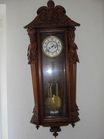 Piękny zegar GUSTAV BECKER wiszący wagowy oryginalny