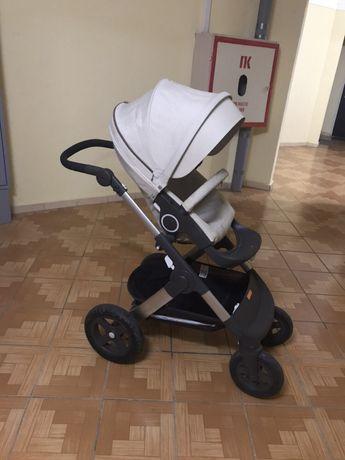 Коляска Stokke trailz прогулка;шасси, вкладыш для новорожденных
