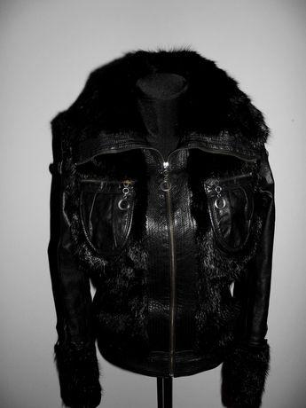 Норковая куртка , кожаная куртка с норкой p.48