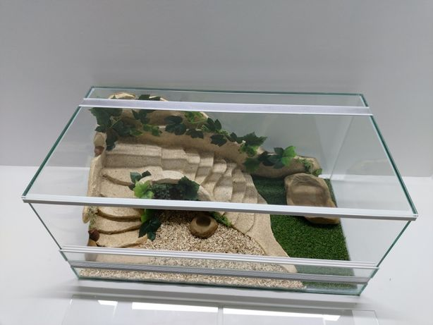 Terrarium AquaWaves nr. kat.TW08PŻ (wąż, zółw, jeż, gekon, agama)