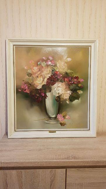 Obraz Marii Bobrowskiej przedstawiający kwiaty