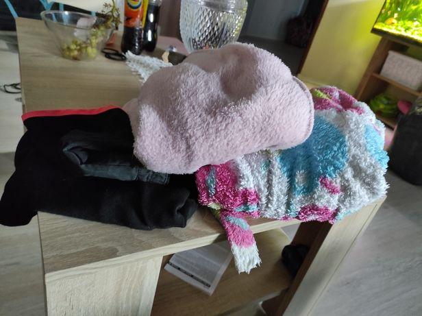 Bluza, spodenki, sukienka i szlafrok