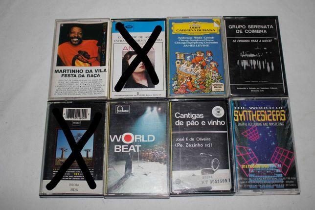 Cassetes audio - K7 - Metal - Rock - Afro - Pop - Portuguesa - Amalia