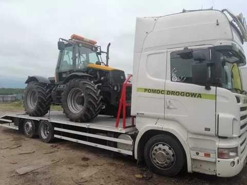 Transport koparek, maszyn rolniczych i budowlanych. Autolaweta 15 T