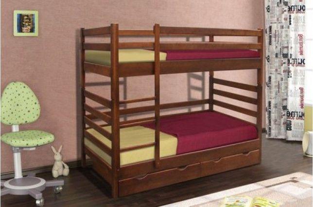 Двухярусная Деревянная Кровать Засоня Детская с Бортиками!