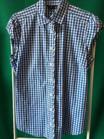 Camisa xadrez azul Gant (40)