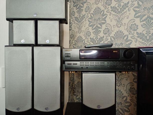 Zestaw kina domowego Cat CS907 amplituner i Cat Mcs2000 5.1,DTS,DD,DSP