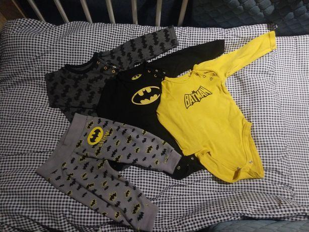 Body długi rękaw Batman 3szt 68 + legginsy