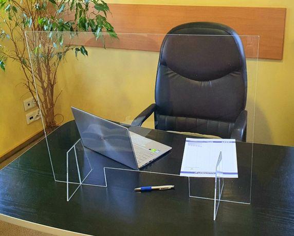 Osłona na biurko ladę recepcja antywirus osłoń się