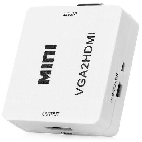 Conversor de vídeo VGA to HDMI ou AV to HDMI ou HDMI to AV