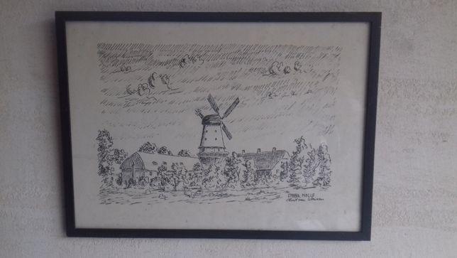 1 Stara grafika druk artystyczny Kurt von Wowern