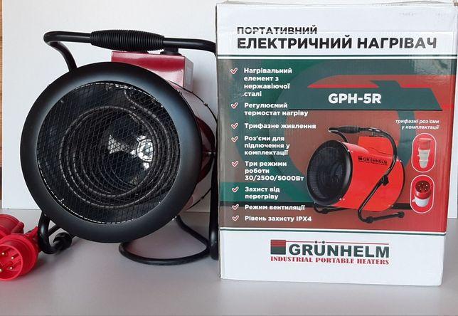 Тепловая пушка GRUNHELM GPH 5R 5,0 кВт, 380 В, 388 м. куб/час