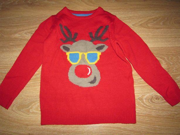 Новогодний свитер Rebel на мальчика 7-8 лет