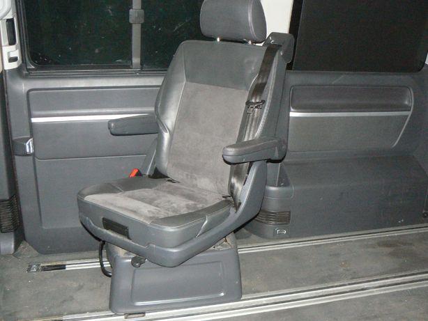 VW T5 T6 LIFT Fotel Obrotowy Skóra Alcantara