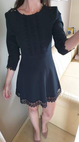 Czarna rozkloszowana sukienka Zara rozmiar S 36
