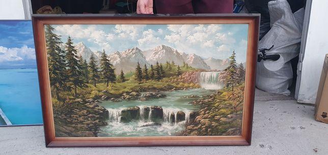 Картина пейзаж маслом на холсте в рамке