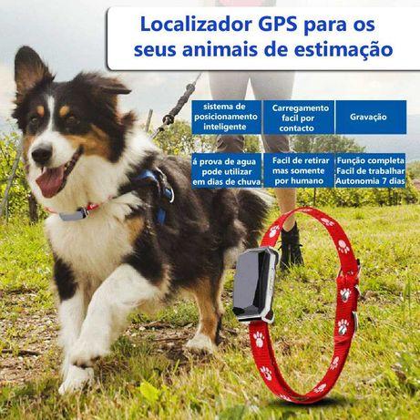 Localizador GPS rastreador animais de estimação cão gato coleira
