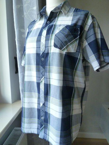 Koszula męska DC z krótkim rękawem, rozmiar L - 100% bawełna