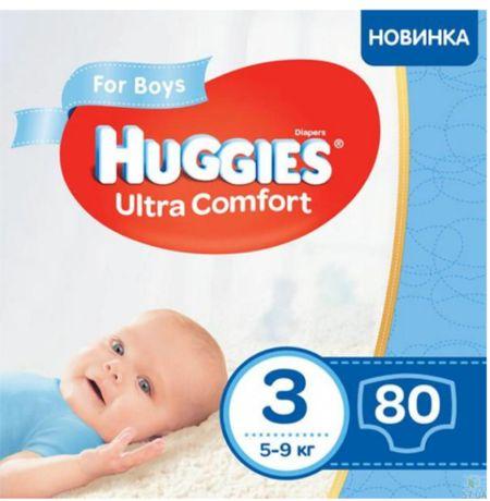 Підгузки Huggies Ultra comfort для хлопчиків. №3, 80 шт.