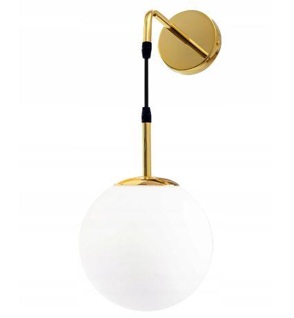 KINKIET LAMPA ścienna szklana ZŁOTA GLAMOUR Gold Kula