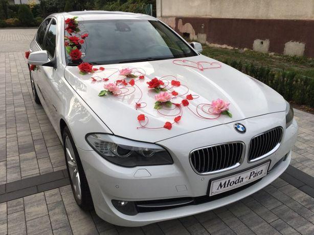 Samochód Auto do Ślubu BIAŁE BMW seria 5 F10 i na inne okazje
