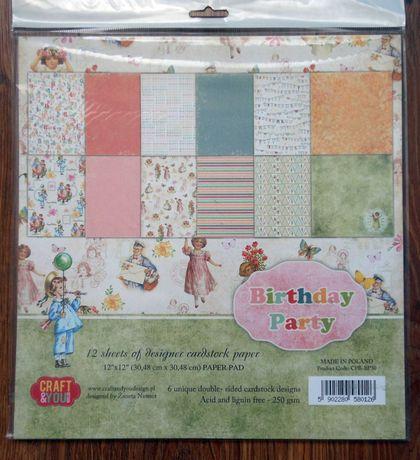 Bloczek 30,5x30,5 Craft&You Design- Birthday Party