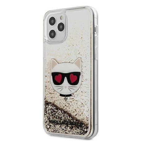 Oryginalne Etui KARL LAGERFELD - Liquid Glitter Iphone 12 Pro Max Złot