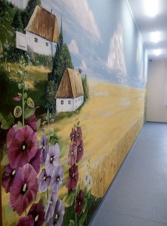 Художественная роспись стен, картины на заказ