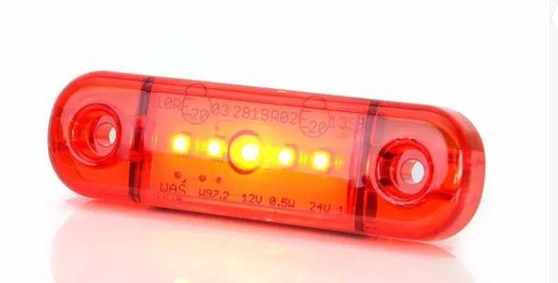 Lampa obrysowa obrys czerowna led ledowa dioda dioda waś 712 w972