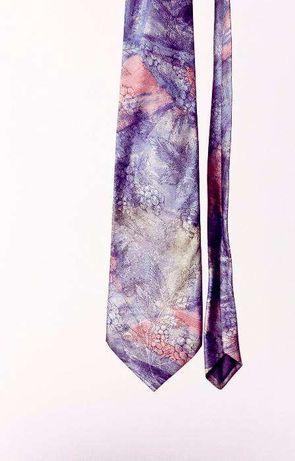 Krawat kolorowy mozaika kwiatowa