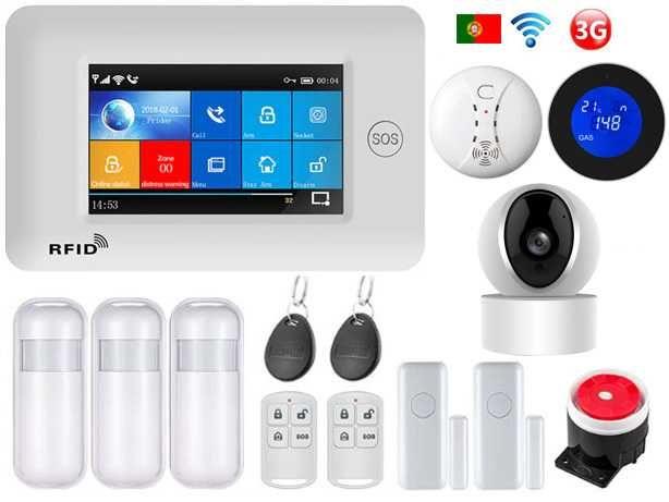 Alarme sem fios GSM/3G/WiFi/Câmara/Gás Android/iOS Português (NOVO)
