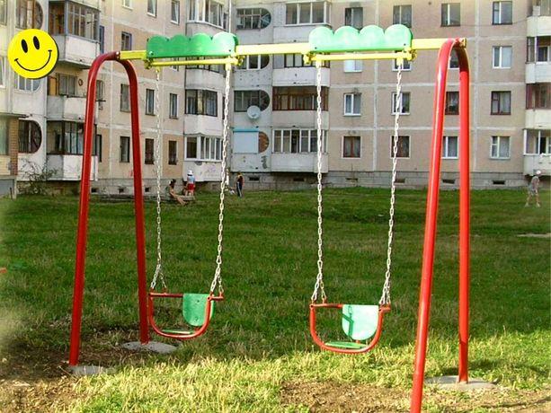 Гойдалка подвійна. Ігрові комплекси, качелі гірки та каруселі (Детские