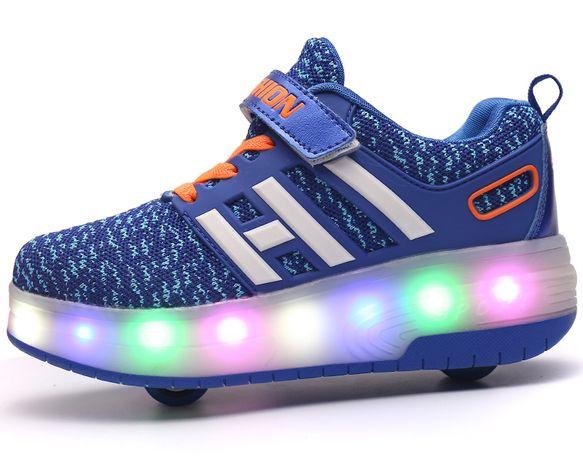 Butorolki LED rozmiar 35 niebieskie